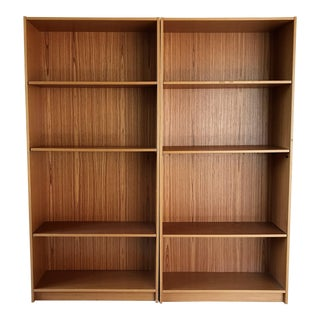 Danish Teak Bookcase (Set of 2)