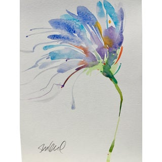 "Botanical 46, Original Watercolor Painting, 9x12"" For Sale"