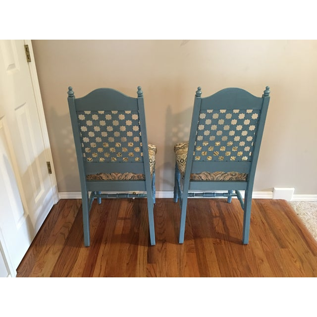 Vintage Blue Cottage Chairs - A Pair - Image 5 of 7