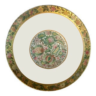 20th Century Hollywood Regency Painted Glass Round Table Top For Sale