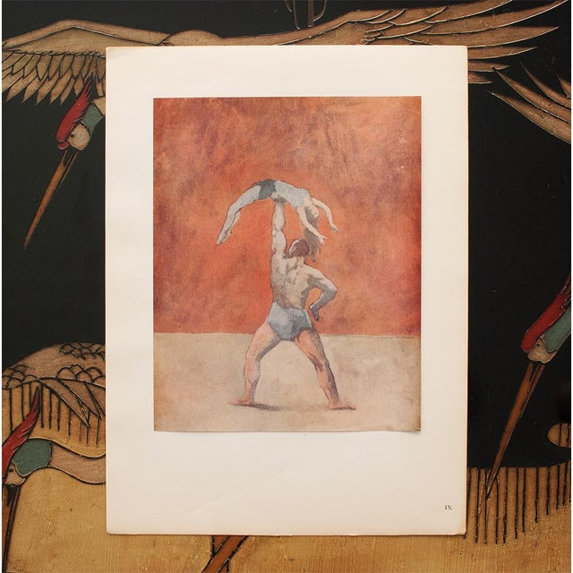 """American 1948 Pablo Picasso """"Acrobats"""" First Edition Period Parisian Lithograph With C. O. A. For Sale - Image 3 of 10"""
