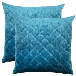 Rodeo Home Decorative Velvet Throw Pillows - a Pair For Sale