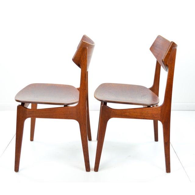 Erik Buck Vintage Danish Modern Teak Dining Chairs - Pair - Image 4 of 9