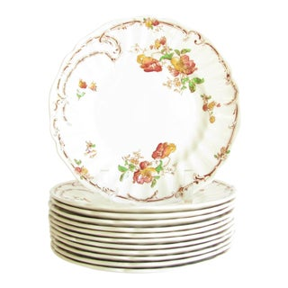 Vintage Royal Doulton Chiltern Earthenware Salad Plates - Set of 12 For Sale