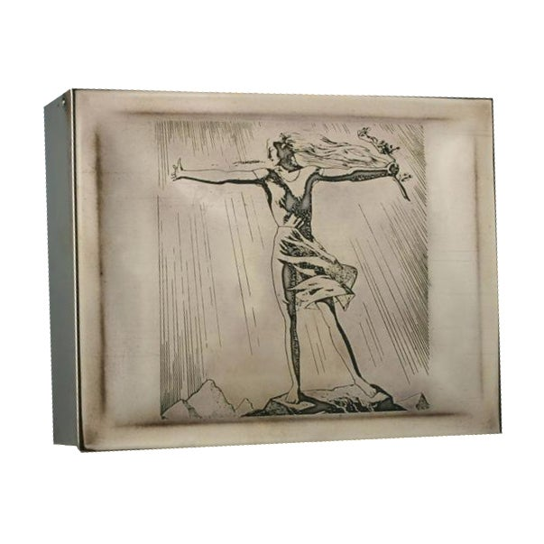 Rockwell Kent Brass Cigar Box - Image 1 of 4