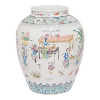 Early 20th Century Chinese Wucai Jar For Sale