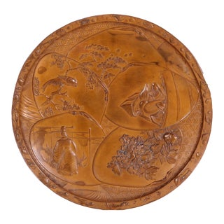 Late 19th Century Japanese Meiji Period Bronze Dish For Sale