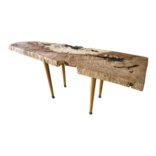 Live Edge Coffee Table Maple Burl For Sale