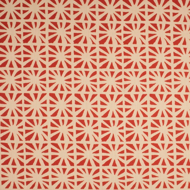 Mid-Century Modern Sample - Justina Blakeney Monterey Printed Cotton and Linen Fabric, Hibiscus For Sale - Image 3 of 3