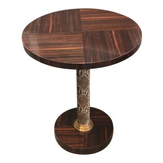 Contemporary Century Furniture Round Side Table For Sale