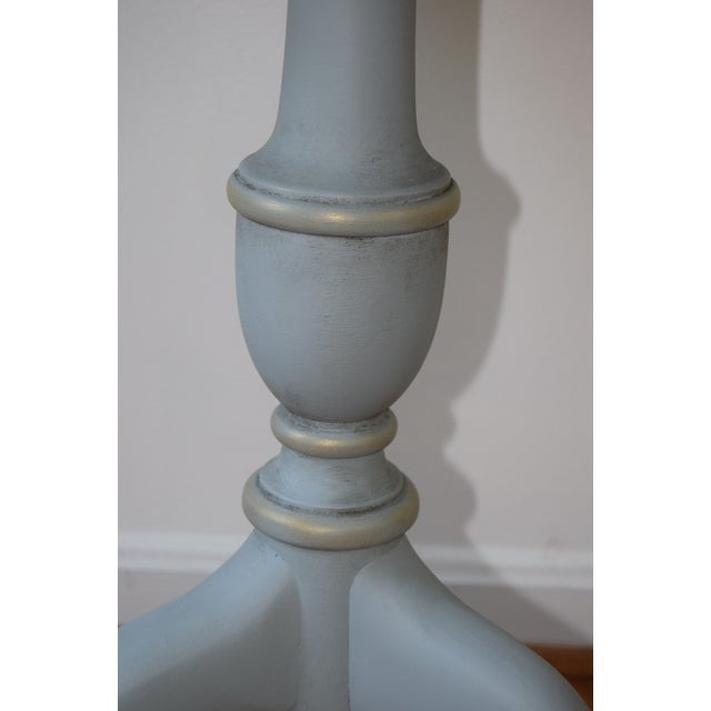 Late 20th Century 20th Century Shabby Chic Pie Crust Trim Gray Side Table For Sale - Image 5 of 9
