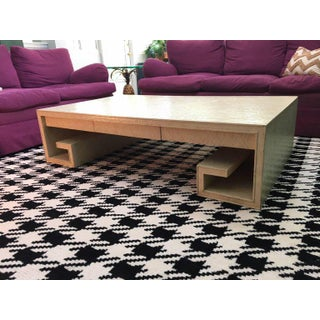 Greek Key Crackle Lacquer Coffee Table by Thomas Pheasant for Baker Preview