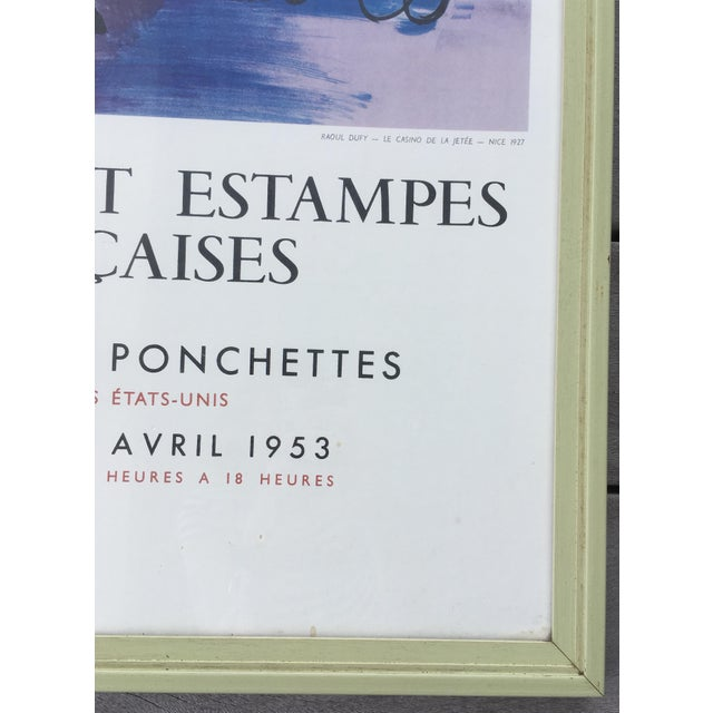 French Vintage 1950s French Exhibition Poster by Raoul Dufy For Sale - Image 3 of 10