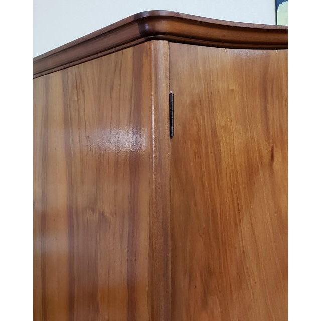 Wood Vintage Walnut Double Door Armoire C.1940 For Sale - Image 7 of 8