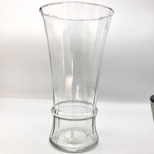 Extra Thin Antique Mouth Blown Optic Panel Glass Vase Chairish