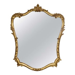 19th Century French Rococo Louis XV Style Giltwood Mirror For Sale