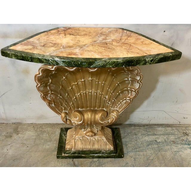Hollywood Regency Shell Console Table Att. Grosfeld House For Sale - Image 3 of 6