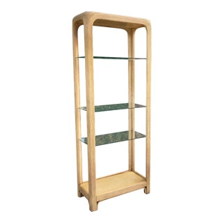 1970s Crespi Style Pencil Reed Bamboo Etagere For Sale