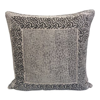 Travers Rajah Pillow Cover With Dune Road Trim For Sale