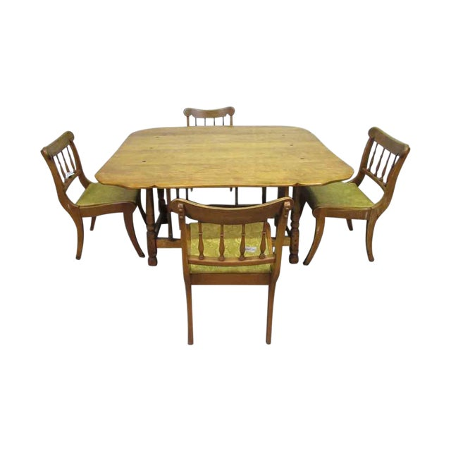 Remarkable Large Rock Maple Dining Table With Chairs Set Interior Design Ideas Gentotryabchikinfo