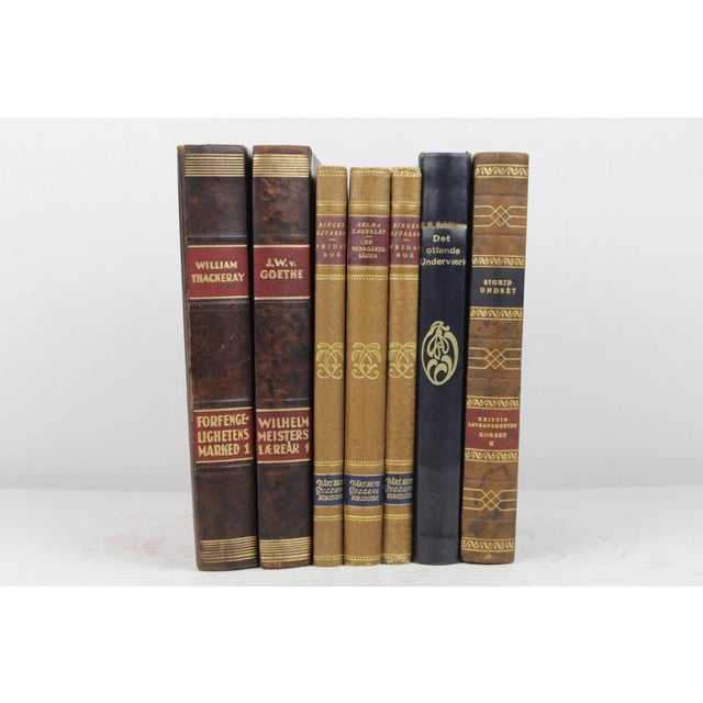 Art Deco Leather-Bound Books - Set of 7 - Image 2 of 4
