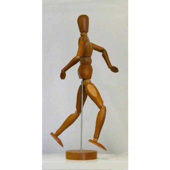 Mid-Century Modern Vintage Wooden Artist Mannequin For Sale - Image 3 of 10
