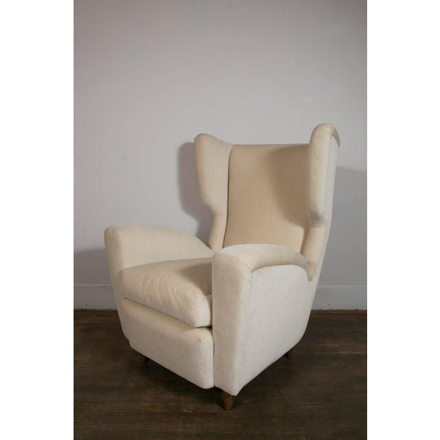 1950s Pair of Wingback Chairs, Italy, 1950's For Sale - Image 5 of 10