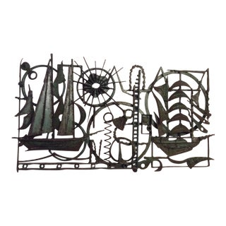 Mid-Century Modern Signed Wall Sculpture
