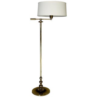 Stiffel Graduated Brass Ball Floor Lamp For Sale