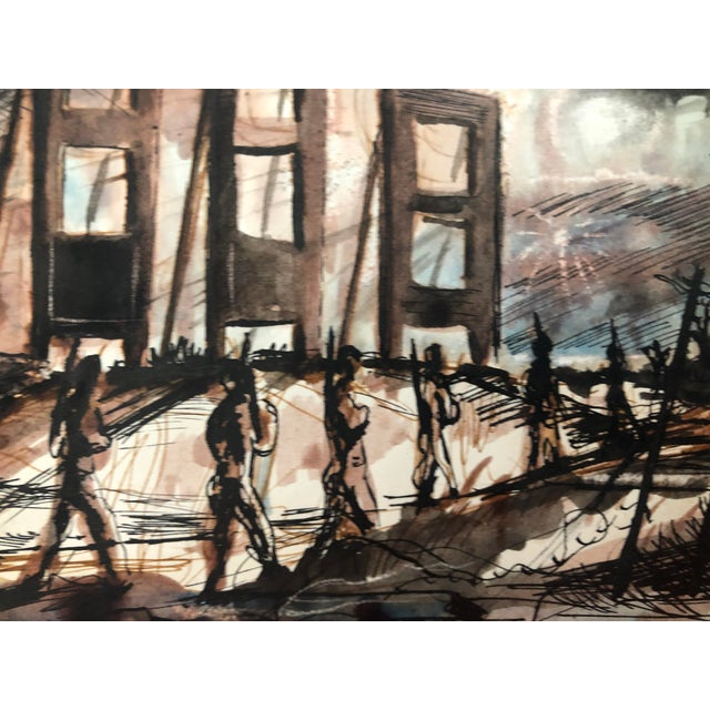 Mid-Century Modern Mid-Century Modern Painting by William Palmer, 1944 For Sale - Image 3 of 5