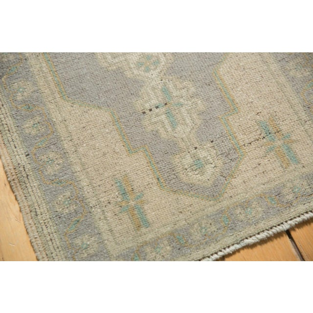 "Textile Vintage Distressed Oushak Rug Mat Runner - 1'9"" X 3'4"" For Sale - Image 7 of 7"