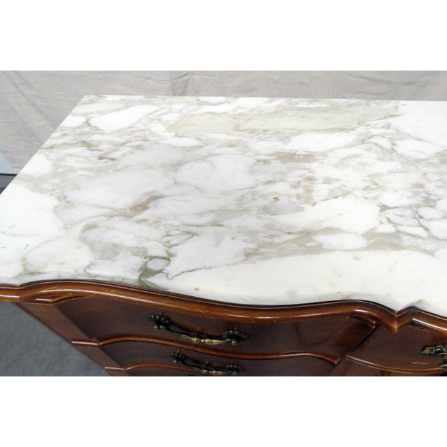 Mid 20th Century 20th Century Country Bodart Marble Top Dresser For Sale - Image 5 of 12