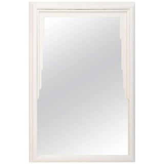 Dorothy Draper Hollywood Regency Art Deco White Lacquer Mirror For Sale