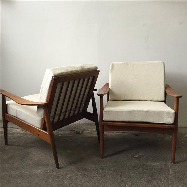 Oak Mid-Century Armchair-Single Chair - Image 6 of 11