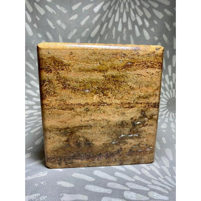 Waterstone Dark Travertine Tissue Box Cover Holder For Sale - Image 4 of 8