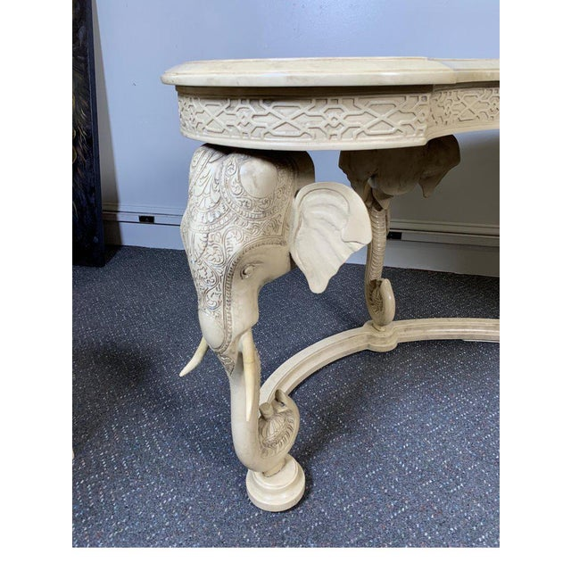 1970s Hollywood Regency Gampel Stoll Kidney Elephant Desk With Chair - 2 Pieces For Sale - Image 9 of 13