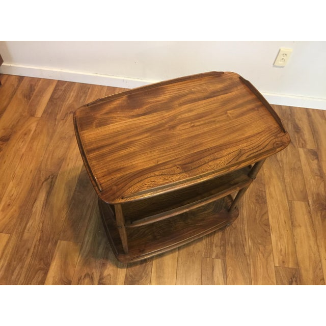 Mid-Century Modern Mid-Century Solid Wood Bar Cart For Sale - Image 3 of 11