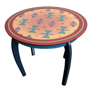 1989 Postmodern End Table by Jane Moore DeGraff For Sale