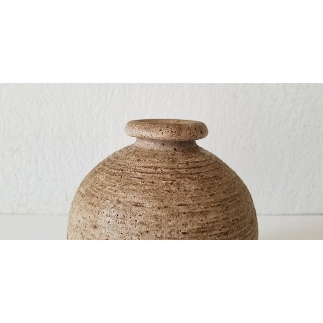 1970s Mid-Century Studio Pottery Bud Vase , Signed . For Sale - Image 5 of 8