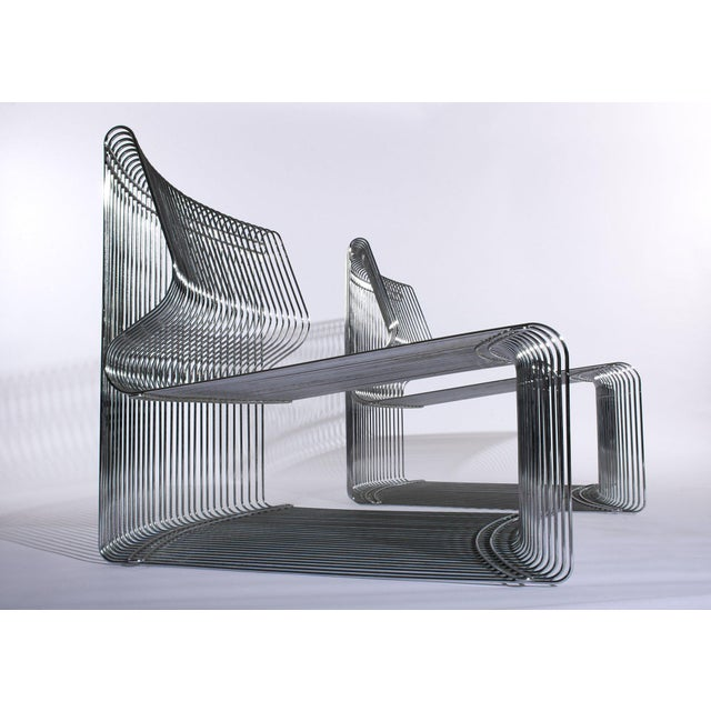 Metal Verner Panton for Fritz Hansen Pantonova Chairs C. 1971 - a Pair For Sale - Image 7 of 8