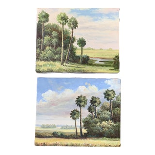 Low Country Paintings - A Pair For Sale