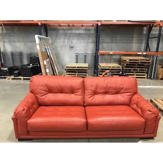 Roche Bobois Tomato Red Sleeper Sofa For Sale - Image 9 of 11