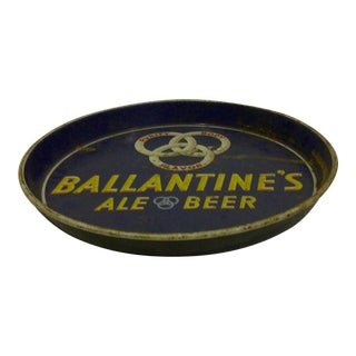 """Ballantine's Ale-Beer"" Vintage Beverage Serving Tray Circa 1950"