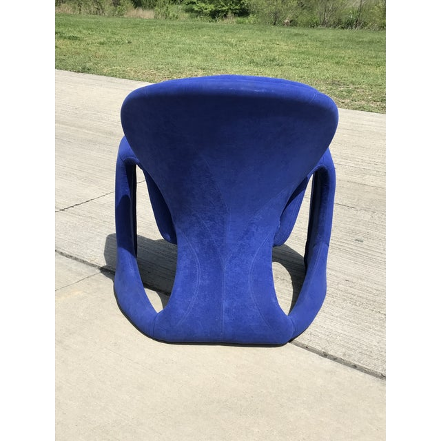 1980s Vintage Post Modern Curvy Accent Chair For Sale - Image 9 of 10