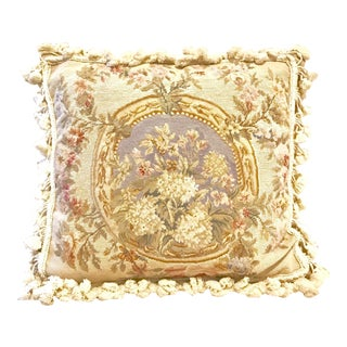 1970s Vintage French Aubusson Pillow For Sale