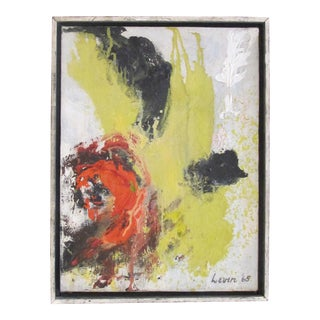 A Bold American 1960's Abstract Oil on Canvas; Signed 'Levin '65' For Sale