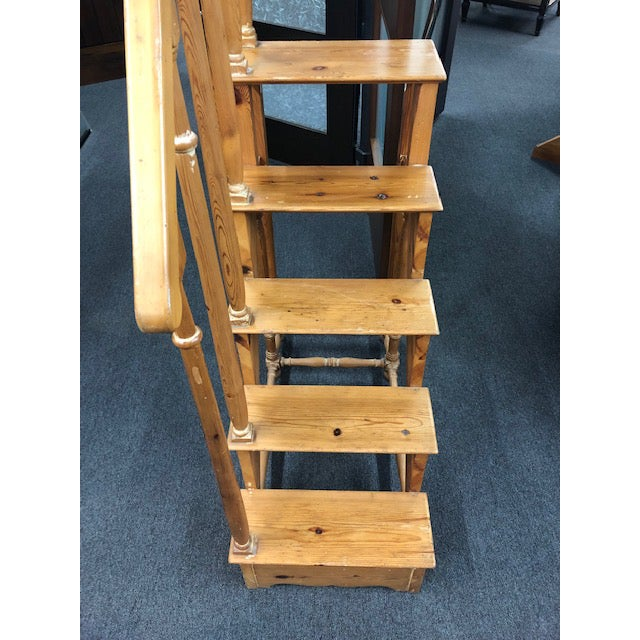 1950s Antique Edwardian Library Steps For Sale - Image 4 of 6