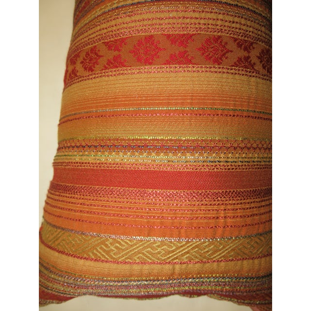 Distressed Persian Rug Pillow - Image 3 of 5