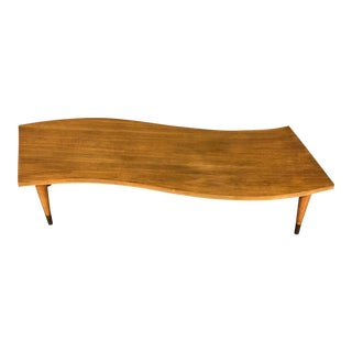 Mid-Century Modern Coffee Table Curved Design