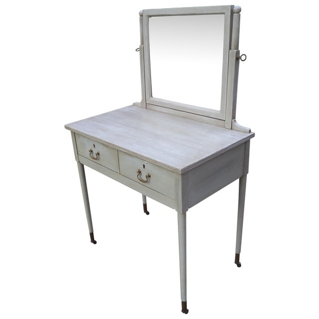 Antique Painted Vanity - Image 1 of 8